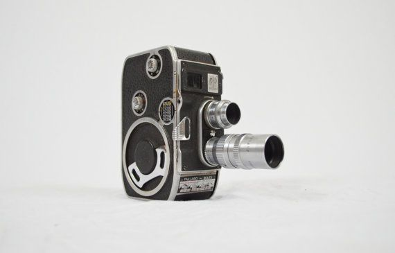 Paillard Bolex B8 Cine Video Camera with by LuccaBalesVintage, **Would be cool to have a shelf/case with all vintage cameras!! :)