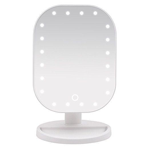 Cool Wawoo Make up Spiegel mit LED Beleuchtung Dimmbar durch Touch Schalter