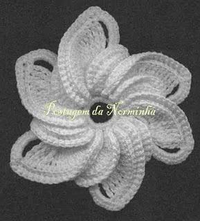 Crochet flower http://pontopreso1.blogspot.com/2011/06/croche-uma-bela-flor.html