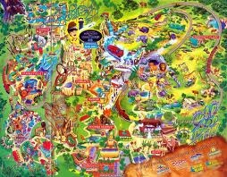 7 best dollywood map past present images on pinterest - Directions to busch gardens tampa florida ...