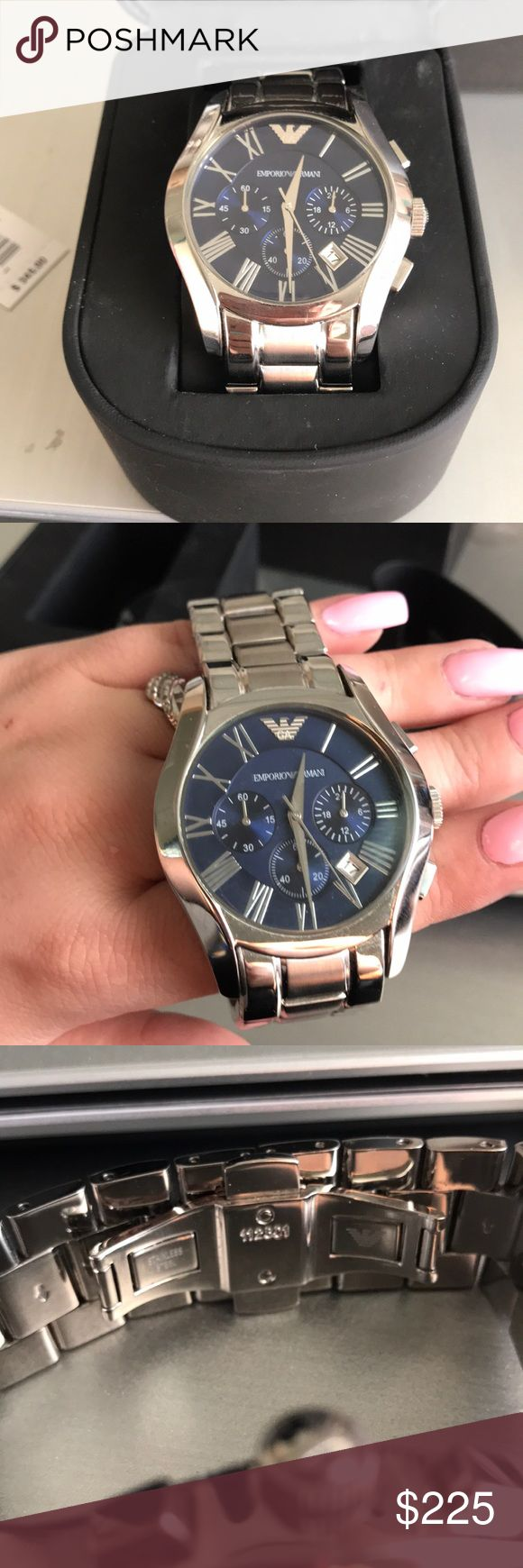 Emporio Armani men's watch Emporio Armani men's watch   Used he wore it only a few times it's Basically new.   I have the original box and tag  No links where removed! Emporio Armani Accessories Watches