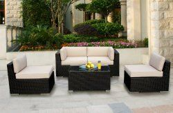 Outdoor Patio Wicker Furniture #PatioFurniture #Wicker