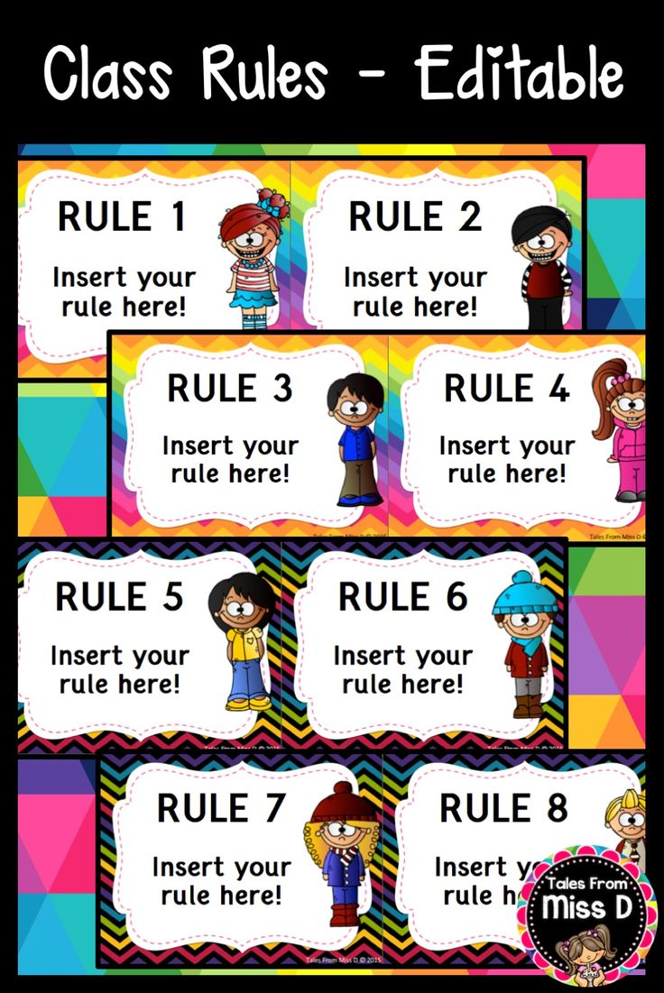 Create your own Class Rules Display with this editable ...