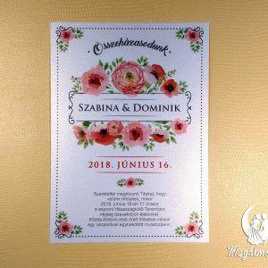 Flower wedding invitation #esküvői #meghívó #nyomtatott #esküvőimeghívó #egyedi #rózsás #wedding #weddinginvitation #unique #flowers #rose