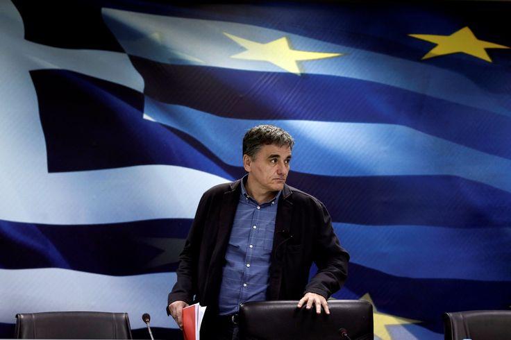 Greek Finance Minister Euclid Tsakalotos in March.