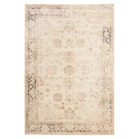 LOVE! Anchor your living room seating group or define space in the den with this loomed art silk rug, showcasing an antiqued Persian motif for classic appeal.  Product: RugConstruction Material: Art silkColor: StoneFeatures: Loomed Note: Please be aware that actual colors may vary from those shown on your screen. Accent rugs may also not show the entire pattern that the corresponding area rugs have.Cleaning and Care: Professional cleaning recommended