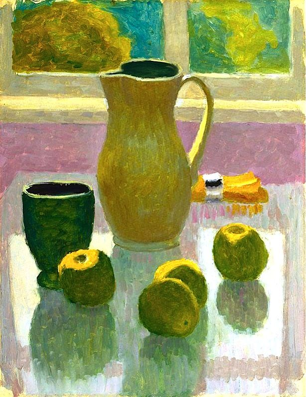Still life with jug and apples, (circa 1964) by Roland Wakelin