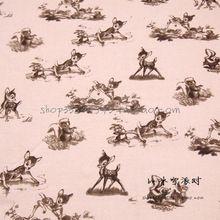 140X100 cm Licht Roze Achtergrond Retro Cartoon Bambi Katoen voor Baby Jongen Kleding Beddengoed Set Naaien Patchwork-AFCK290(China)