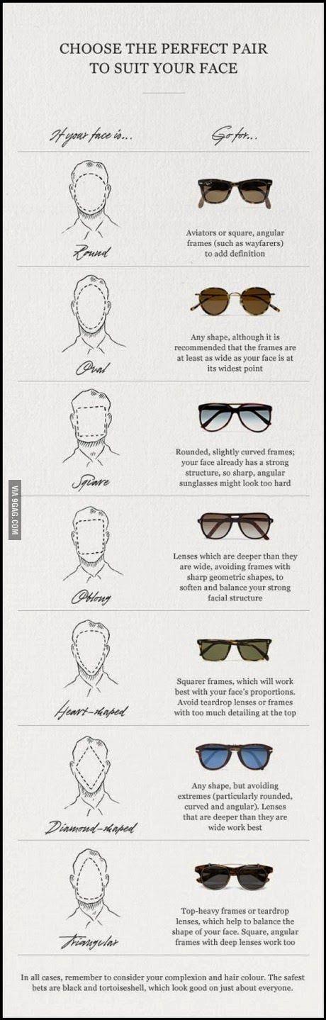 Cómo elegir las gafas de sol perfectas según tu tipo de cara | Raddest Men's Fashion Looks On The Internet: http://www.raddestlooks.org
