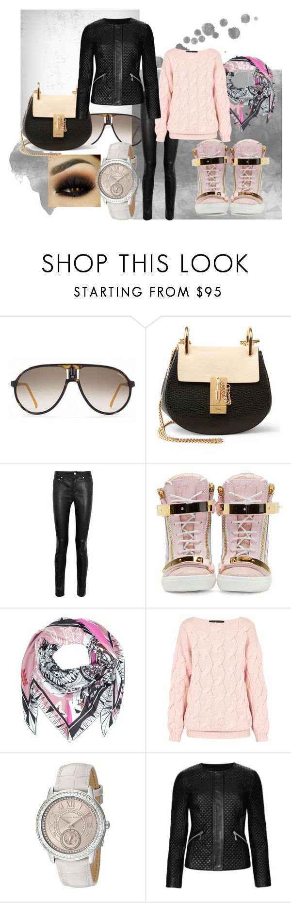 Spring Collection by Bella by raluca-belu on Polyvore featuring AV by Adriana Voloshchuk, M&S Collection, Acne Studios, Giuseppe Zanotti, Chloé, Michael Kors, Emilio Pucci and Carrera