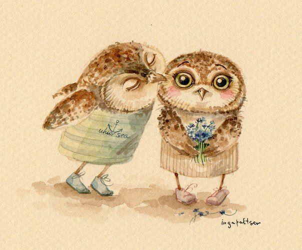 owls by ingapaltser on DeviantArt