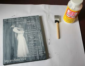 Hoot & Bumble: First Dance + Song Lyrics Wedding Picture Part 2: How to Make a Photo Canvas