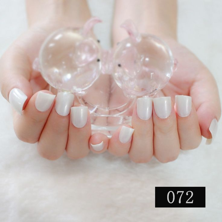 Tips Display 2017 24PCS French Classic  Fashion Short paragraph Candy color Solid color False nail White SM28-072