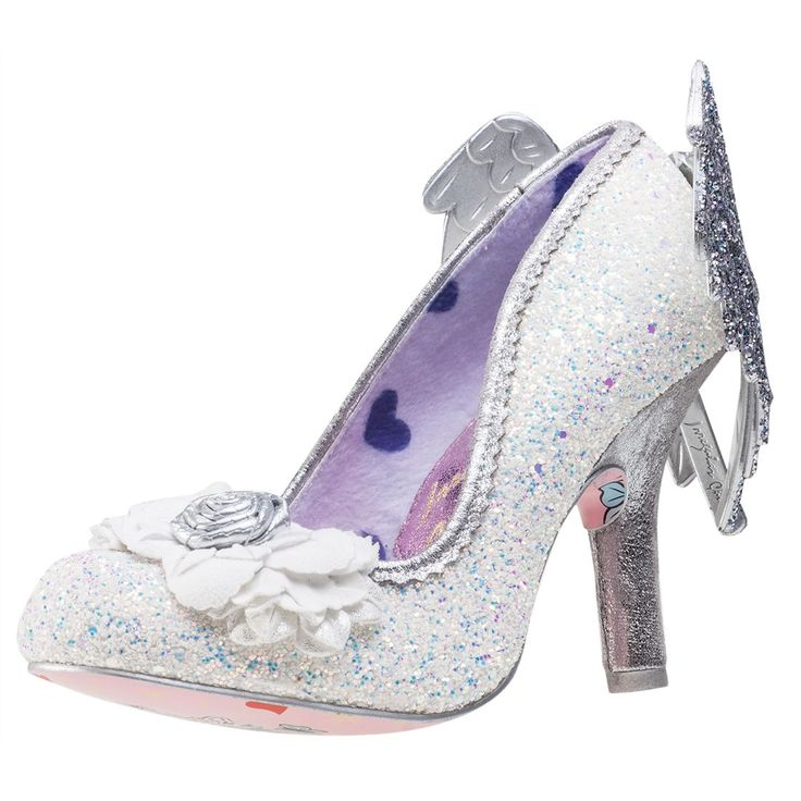 Irregular Choice Icarus -wings- Womens Shoes in White Silver