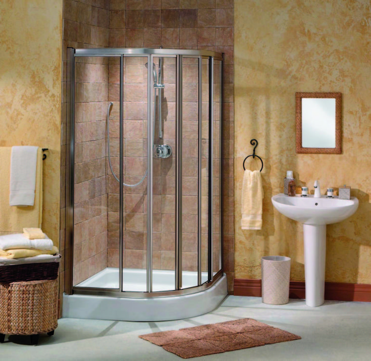 likeness of corner shower units for small bathroom solving space issues