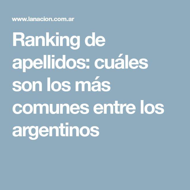 Ranking de apellidos: cuáles son los más comunes entre los argentinos