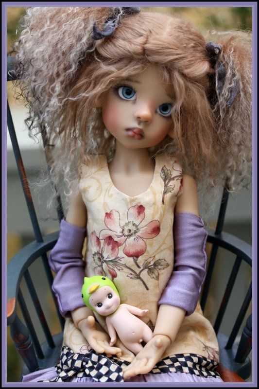 Cute Kaye Wiggs doll with doll