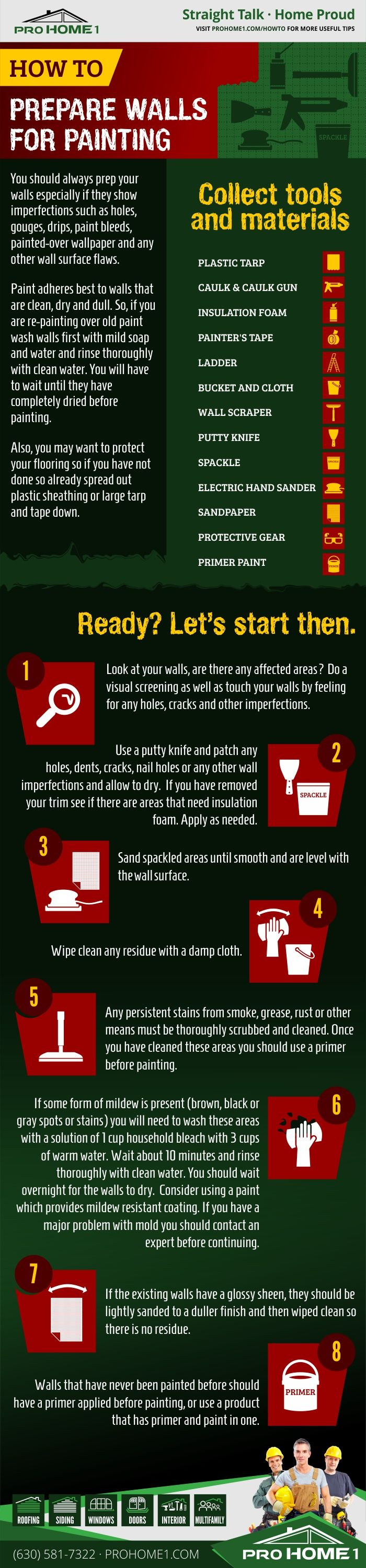 Best 25 preparing walls for painting ideas on pinterest fixing drywall prepping walls for - How to prepare walls for painting in a few easy steps ...