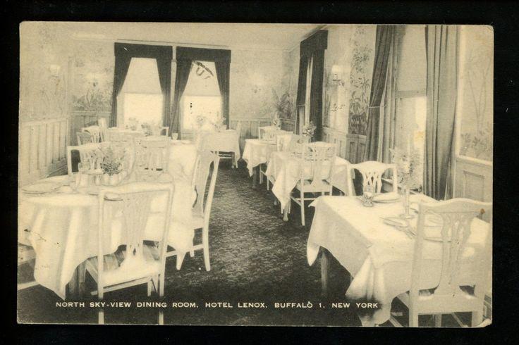 Buffalo, New York NY Vintage postcard Hotel Lenox dining room | eBay