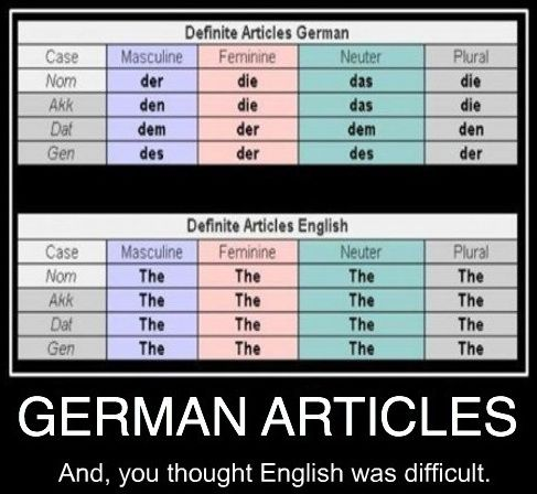 how so that you can gain knowledge of any in german articles