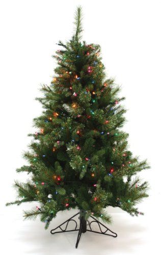 Good Tidings Nordmann Fir Artificial Prelit Christmas Tree 412Feet Clear Lights *** You can get additional details at the image link.