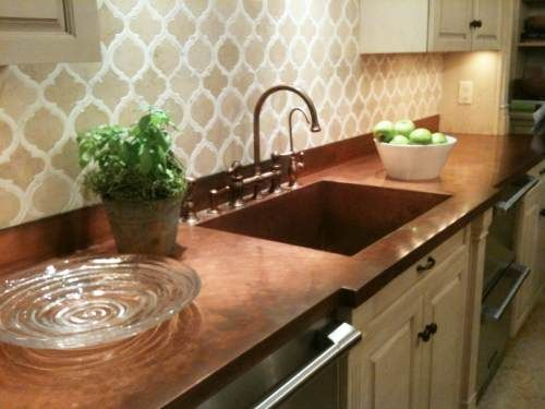Copper Countertops Penny With Good Ideas