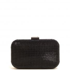 Bolso Clutch Negro Brillante