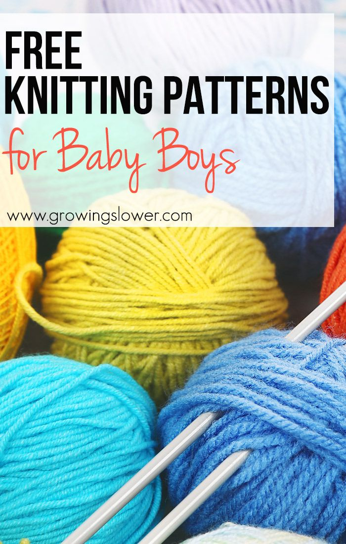 Knit one of these 12 adorable free knitting patterns for baby boys for the little man in your life!