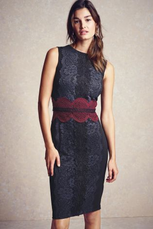 Buy Placed Lace Bodycon Dress from the Next UK online shop