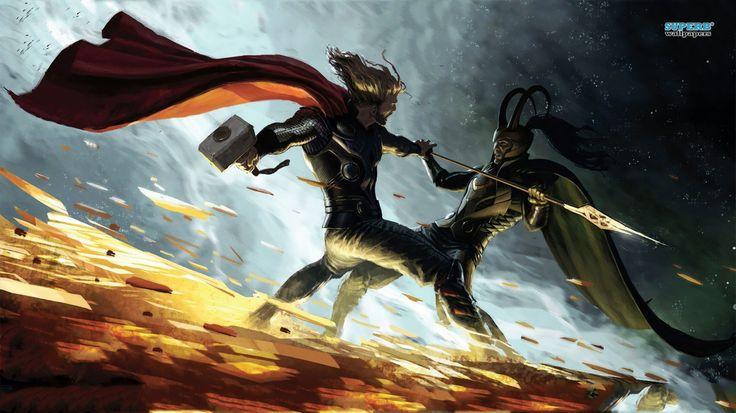 thor vs loki   Thor vs Loki wallpaper - Fantasy wallpapers - #15080