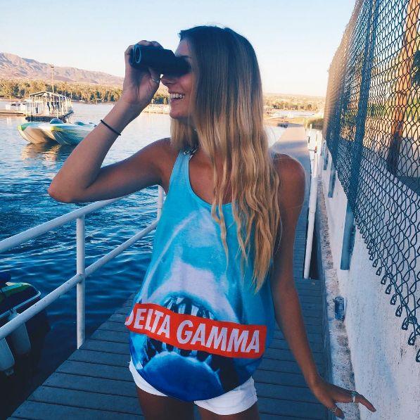 DG Shark Tank | Delta Gamma | Shark Week | Recruitment Ideas | Sorority Apparel | Bid Day Shirts
