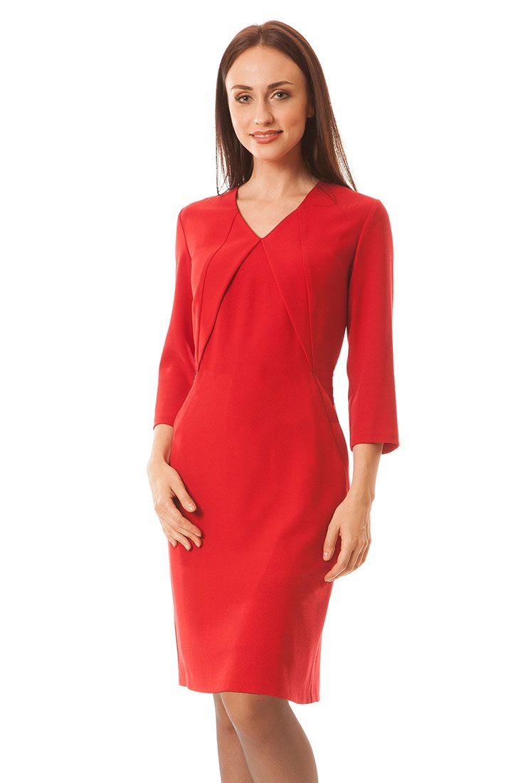 Suknia Lena czerwona krepa Semper