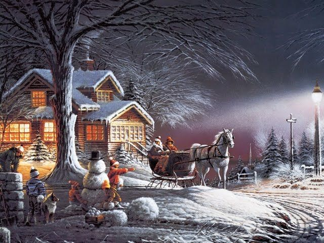 Christmas Scenes | Winter Wonderland, Christmas 1992 - Terry Redlin Paintings 1600*1200 ...