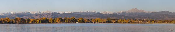 The Front Range - Large size panorama taken from Union Reservoir in Longmont, CO - Fine art print by Aaron Spong #Longmont #Colorado #frontrange #peaks