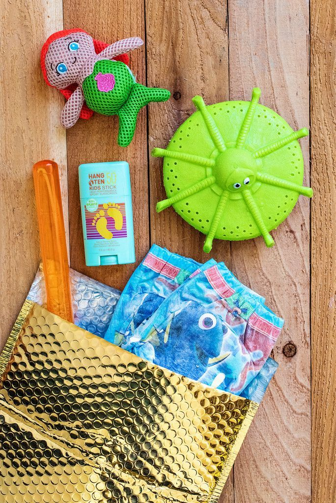 Need a fun new way to send invites to your pool party? Try these fun new gift invitations, packed with fun water toys to enjoy at a day at the pool!