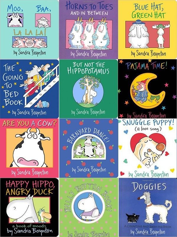 So many great Sandra Boynton books...Which one is your favorite? (Be sure to repin this post to show your love of this artist and author.) From @hellobee.