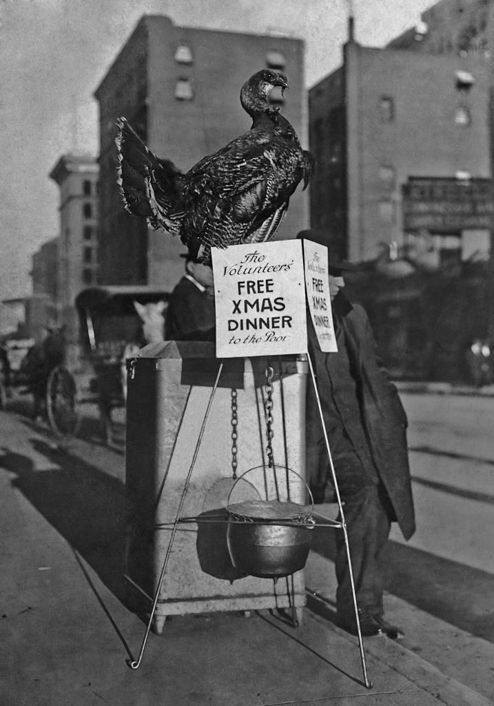 Voluntree Christmas Denver 2020 A turkey and a cauldron are used to advertise a free Christmas