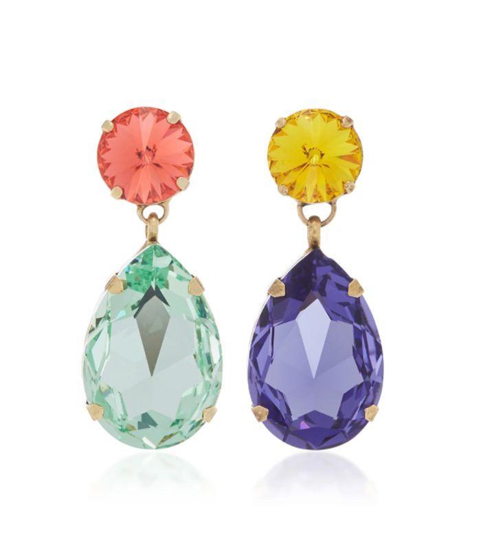 Pastel Crystal Earrings Dark Crystal Hard Enamel Earrings Kawaii Earrings Mis Match Earring Set Crystal Earrings