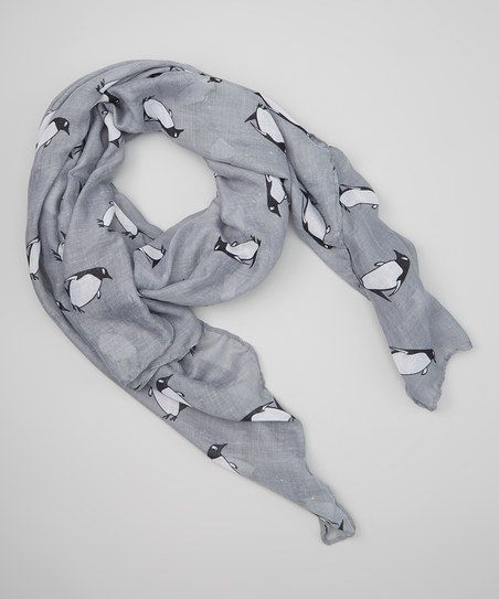 Gray Penguin Scarf