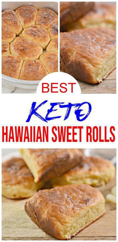 BEST Keto Hawaiian Sweet Rolls! Low Carb Bread Dinner