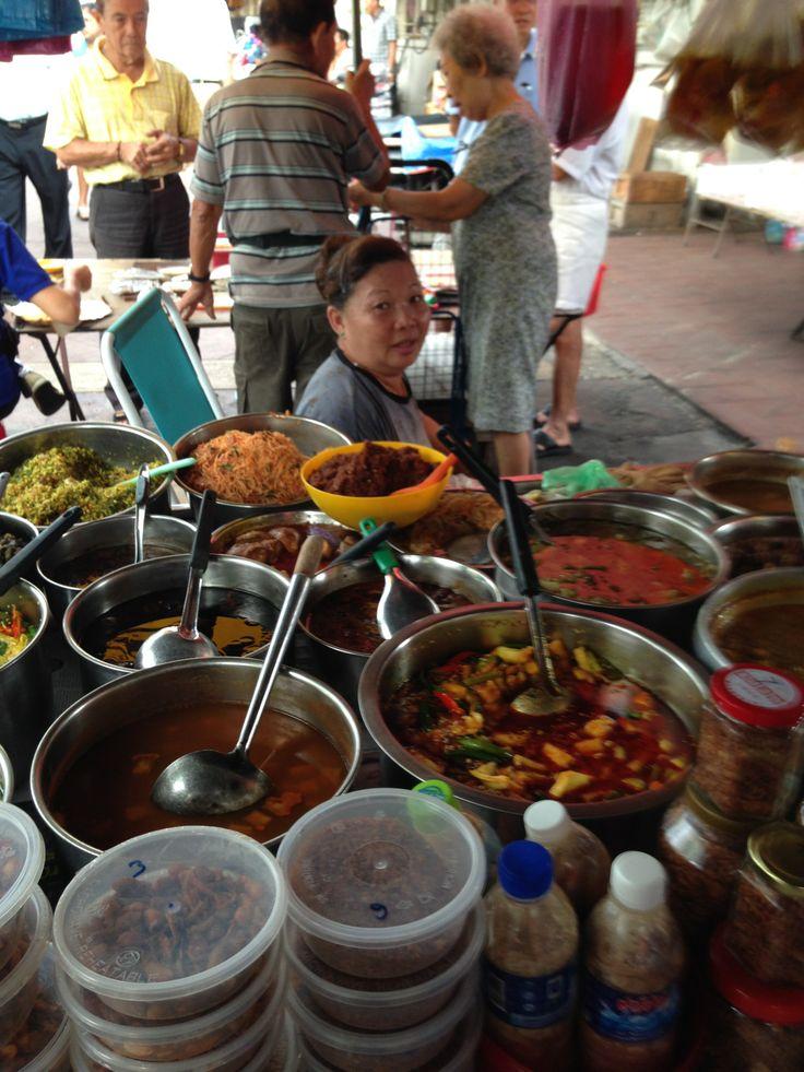Nyonya stall in Pulau Tikus Market. Nasi Ulam