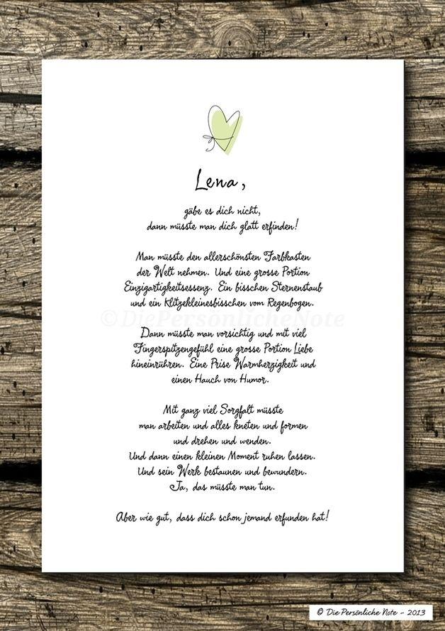 """Geschenkidee (nicht nur) zum Valentinstag: Kleine """"Liebeserklärung"""" für besondere Menschen - Druck/Wandbild/Print"""