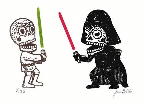 Mexican skull Star Wars characters by Jose Pulido: Stars, Star Wars, Sugar Skull, Of The, Dead, Day, Starwars