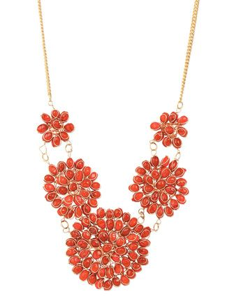 Buy Ajara Red Acrylic Necklace Online, , LimeRoad. Rs.299