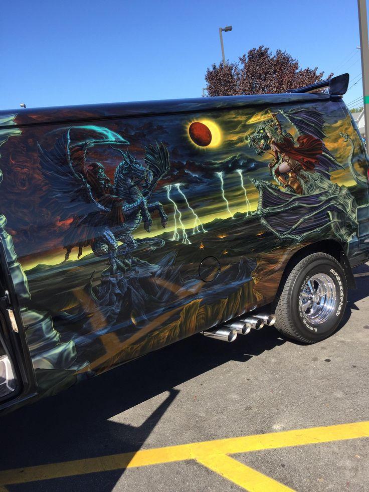 This custom airbrushed van at my car show last weekend