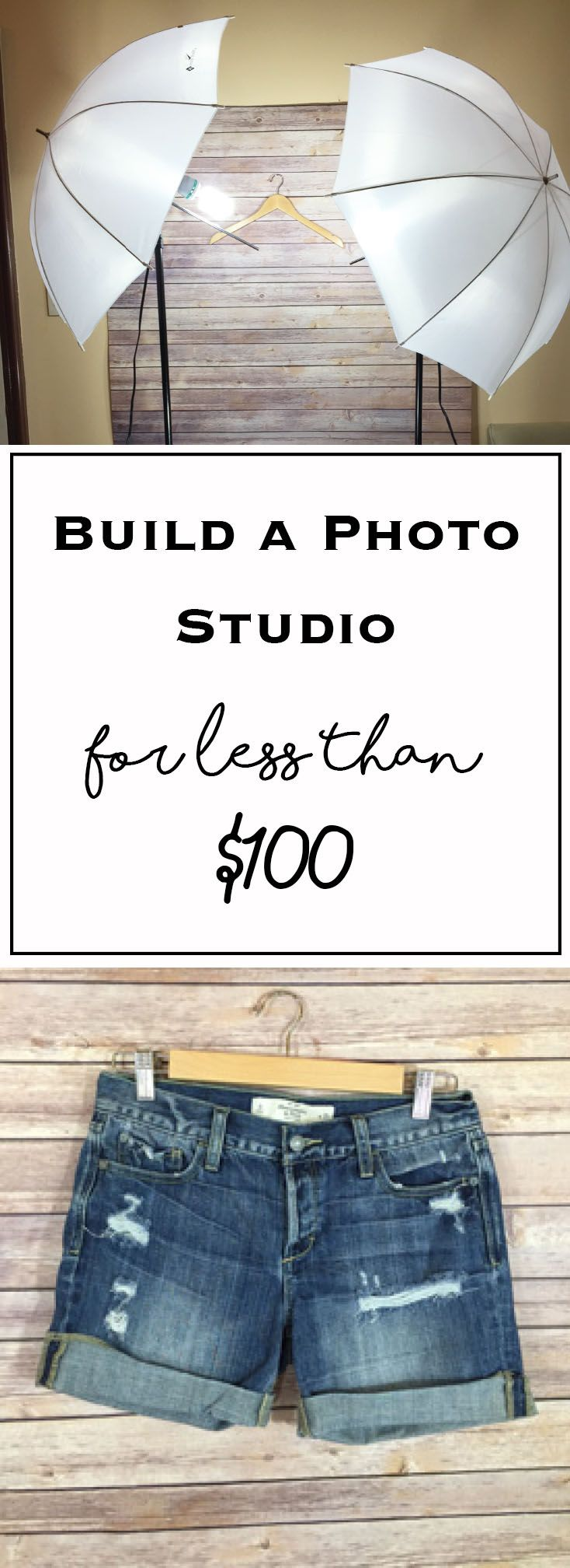 How to Build a Photo Studio for Less Than $100