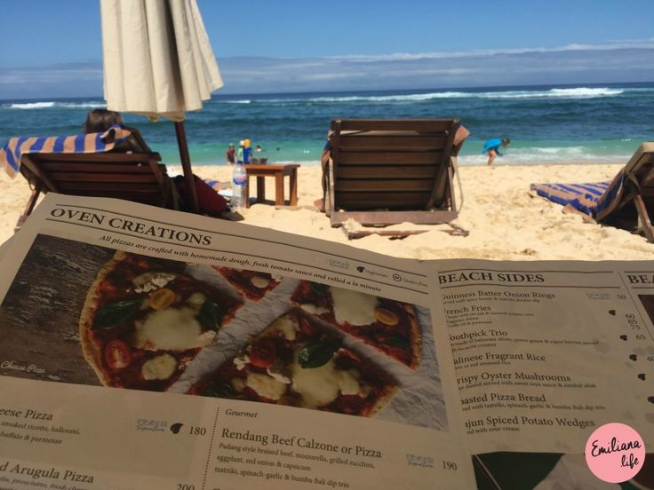menu finn's beach club Bali Indonesia