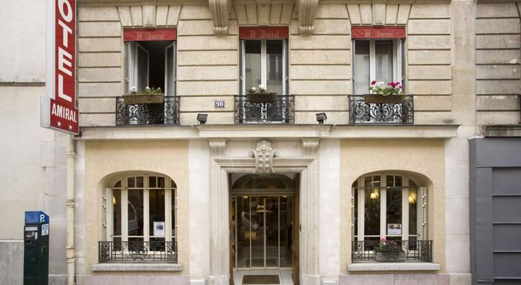 L'Amiral Paris Hotel Amiral is located between the Eiffel Tower, Montparnasse railway station and Porte de Versailles. It offers affordable accommodation and free Wi-Fi is available throughout the hotel.