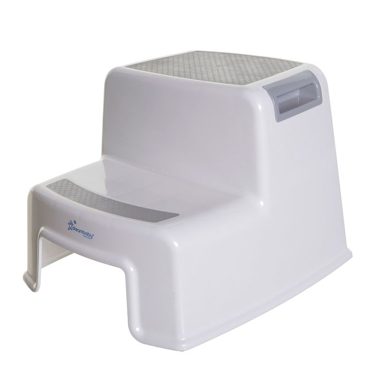 2-Step Plastic Step Stool with 200 lb. Load Capacity