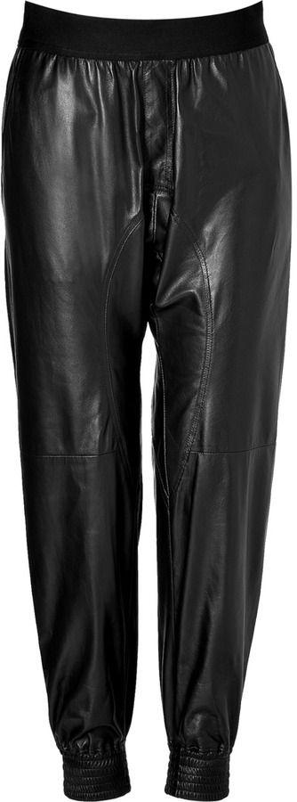 Neil Barrett Leather Jogging Pants on shopstyle.com